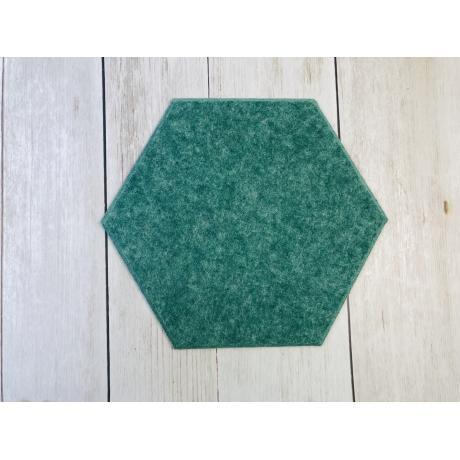 Мягкие настенные панели для детской комнаты MyMatto - Сота зеленый мраморный