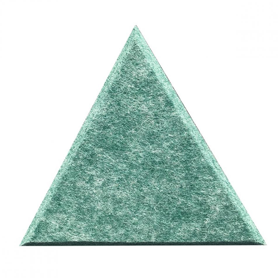 Мягкие настенные панели для детской комнаты MyMatto - Треугольник зеленый мраморный