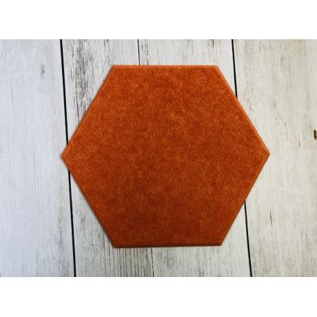 Гипоаллергенные панели из ЭКО-войлока на стену MyMatto - Сота оранжевый