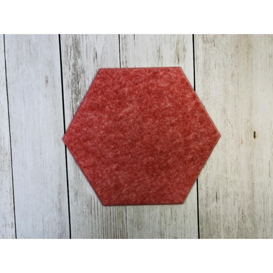 Гипоаллергенные панели из ЭКО-войлока на стену MyMatto - Сота красный мраморный