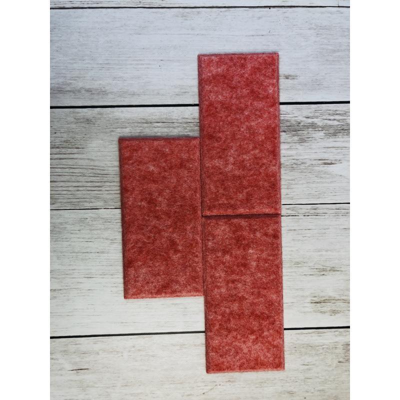 Гипоаллергенные панели из ЭКО-войлока на стену MyMatto - Кирпич красный мраморный фото