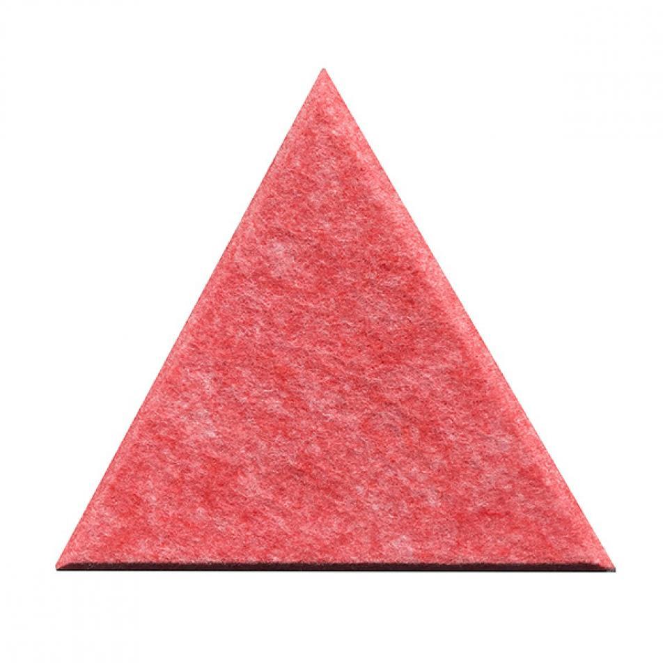 Гипоаллергенные панели из ЭКО-войлока на стену MyMatto - Треугольник красный мраморный