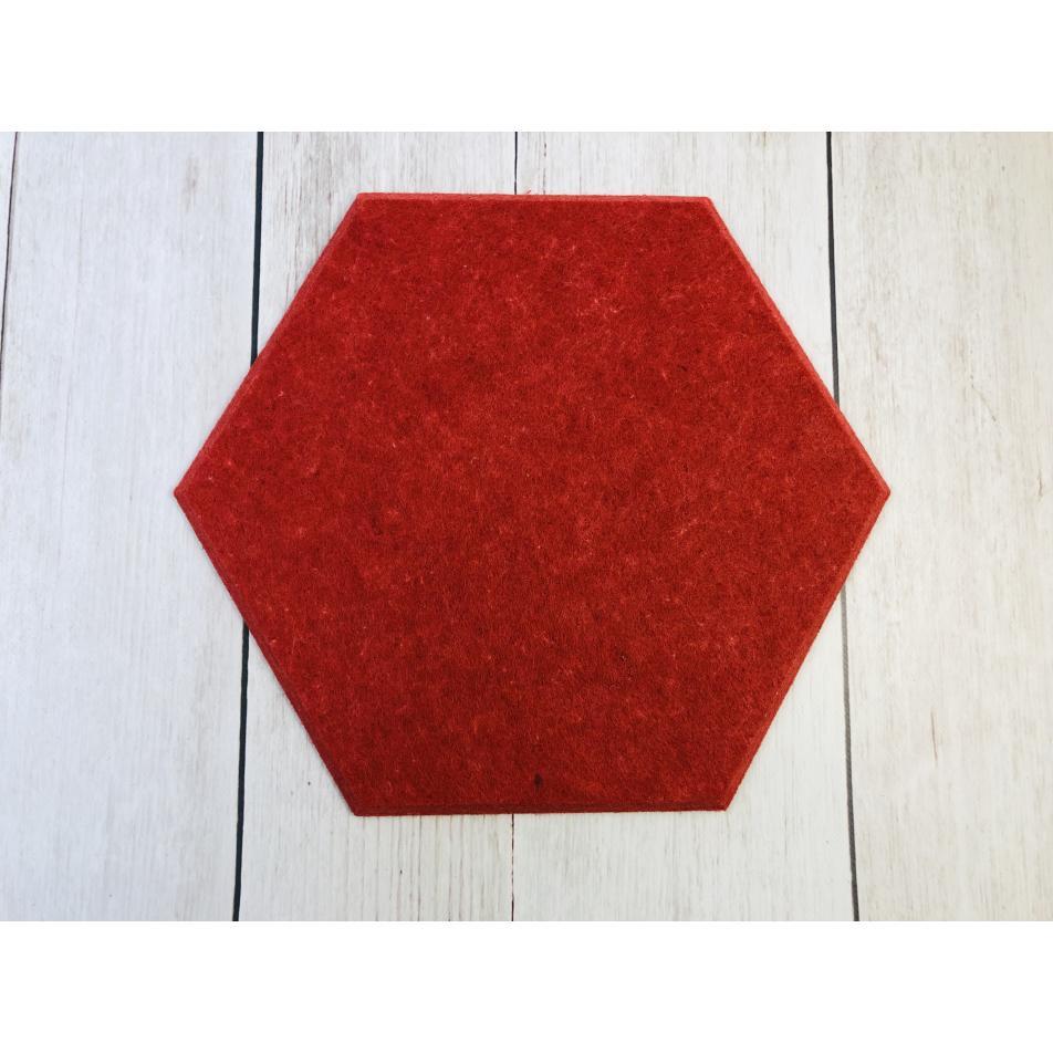 Панели для стен из ЭКО-войлока MyMatto - Сота красный