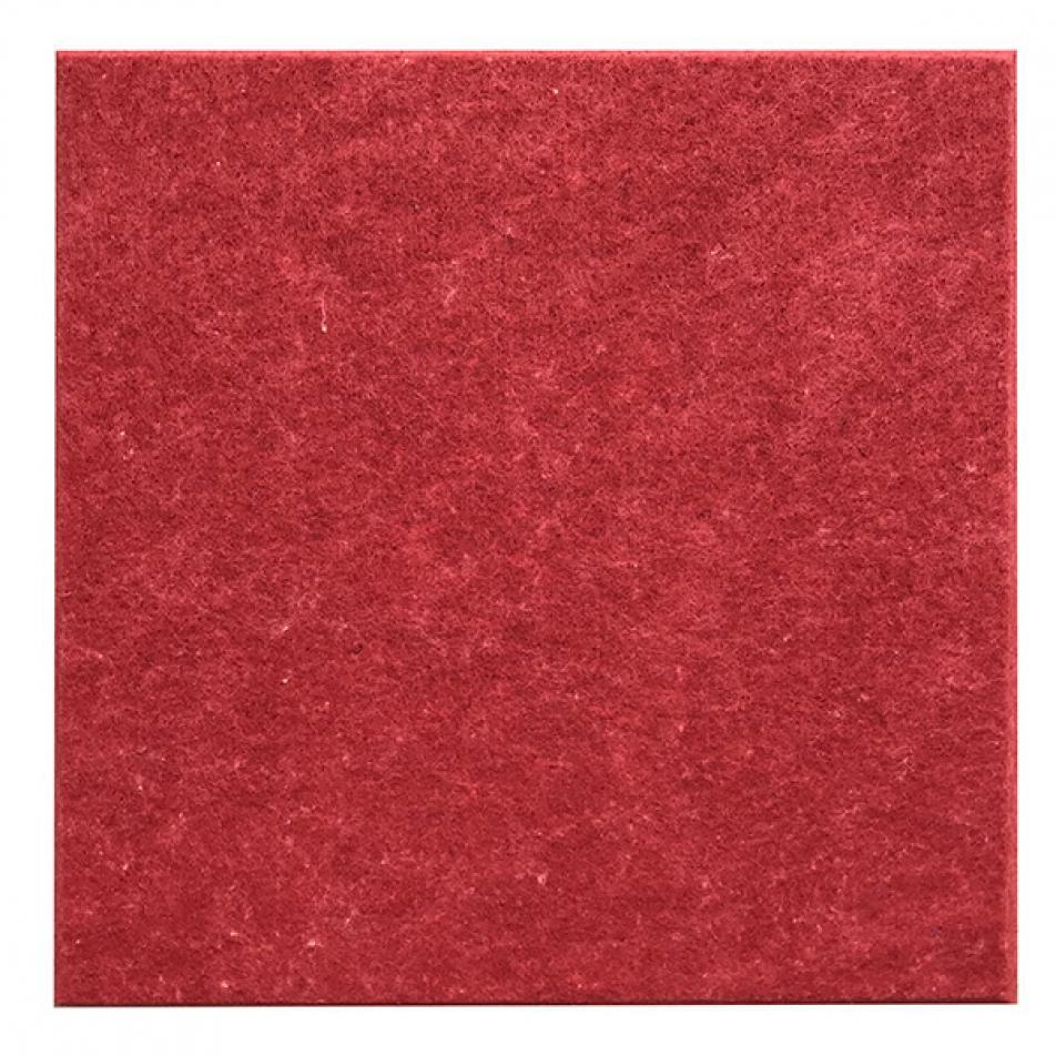 Панели для стен из ЭКО-войлока MyMatto - Квадрат красный