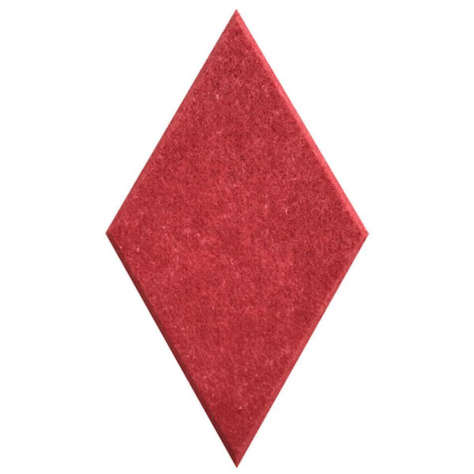 Панели для стен из ЭКО-войлока MyMatto - Ромб красный