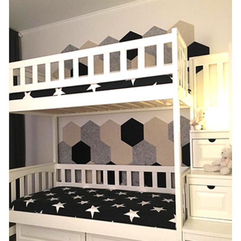 Мягкие настенные панели для детской комнаты MyMatto - Сота салатовый фото
