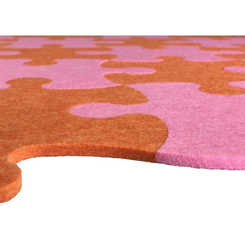 Смарт-коврик Mymatto Classic Оранжево-розовый фото