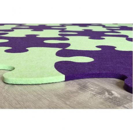 Смарт-коврик Mymatto Classic Зелено-фиолетовый