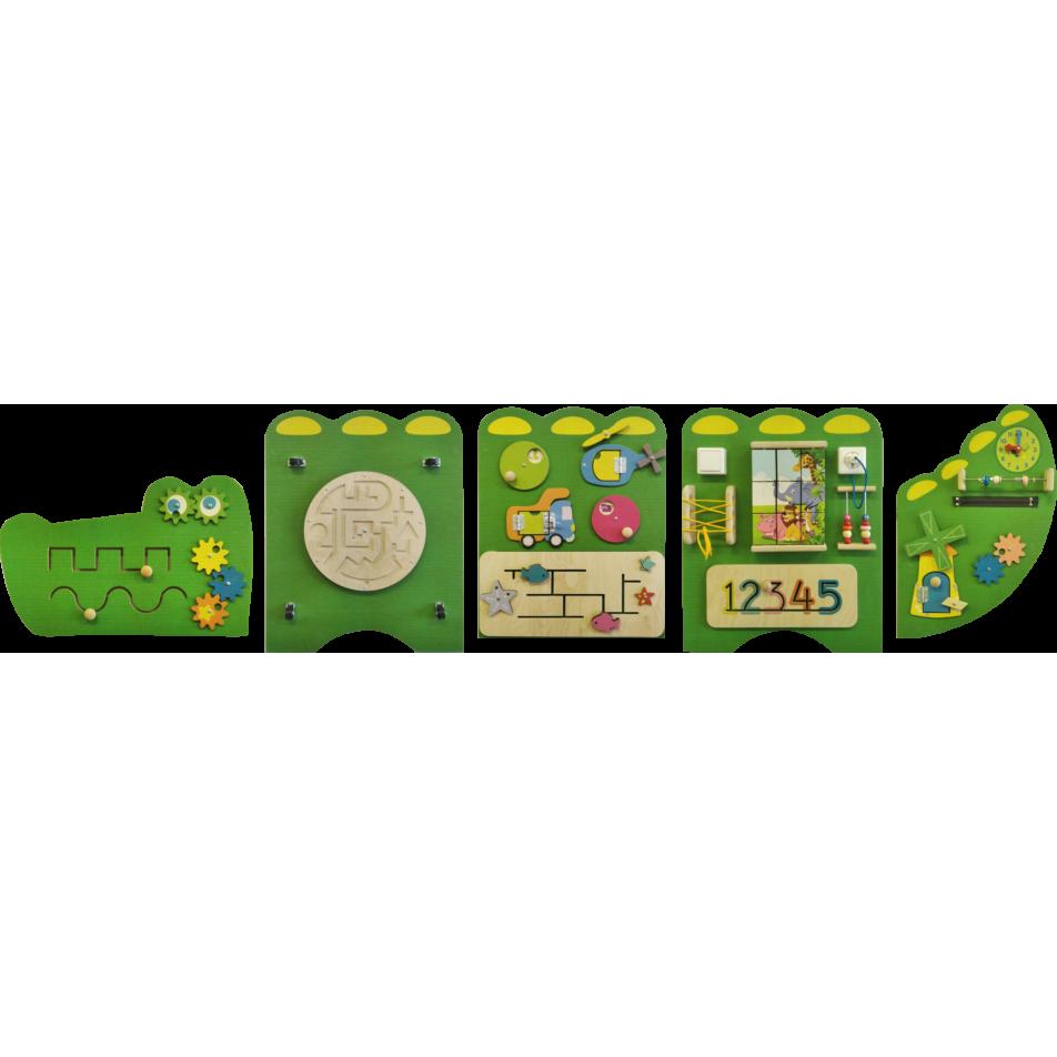 Развивающая панель Крокодил 251х62 см