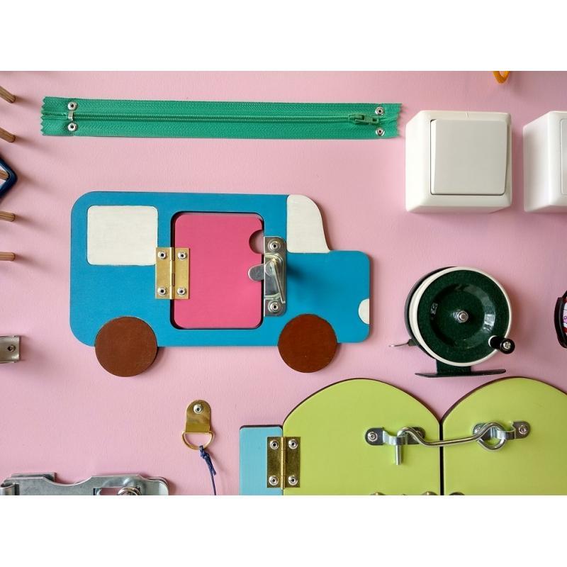 Бизиборд-геоборд  розовый 70 х 50 см фото