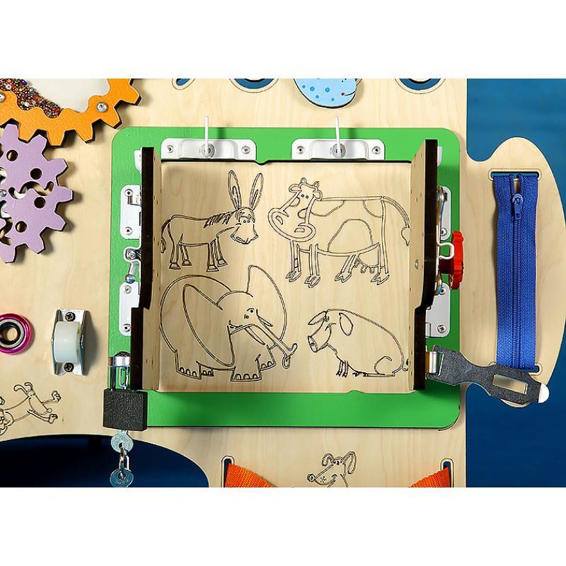 Бизиборд «Пазл» 70х50 см фото