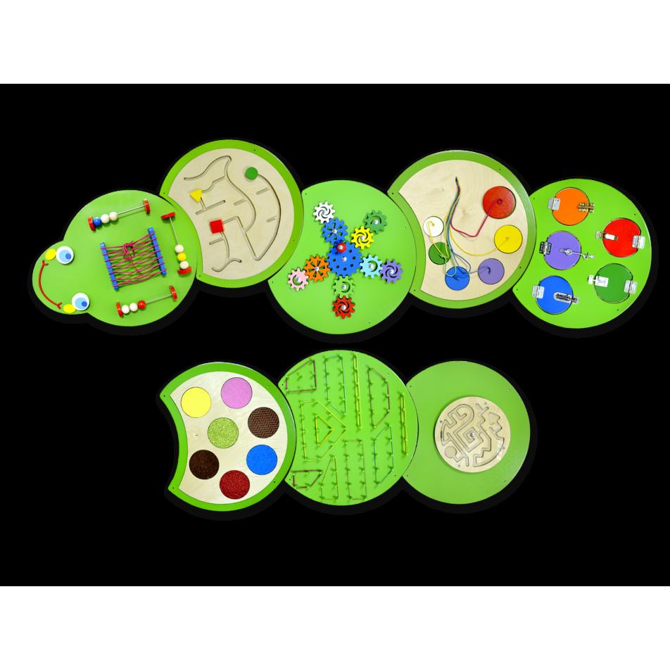 Тактильно-развивающая панель «Гусеница Жужа»