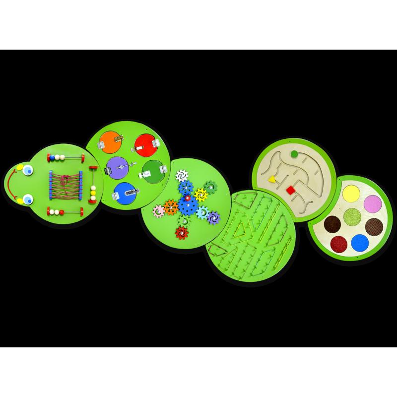 Тактильно-развивающая панель «Гусеница Жужа» фото