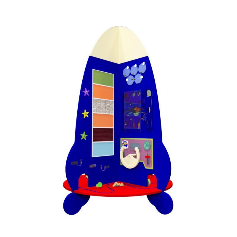Напольный бизиборд «Ракета» фото