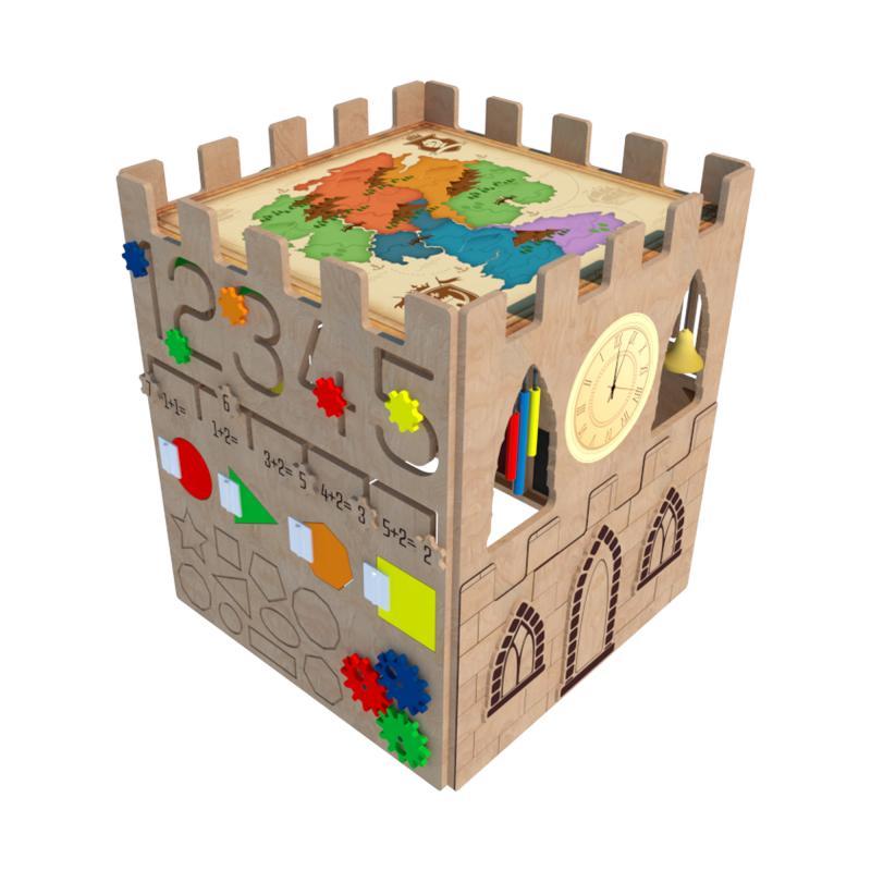 Бизиборд напольный «Средневековая крепость» фото