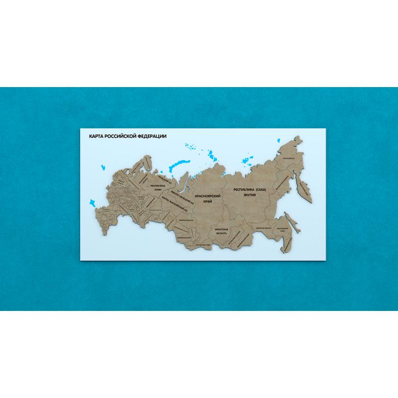 Карта Российской Федерации фото