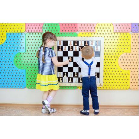 Настенная игра 2 в 1 Шашки + шахматы