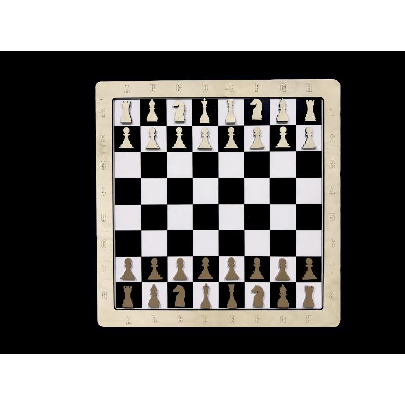 Настенная игра 2 в 1 Шашки + шахматы фото