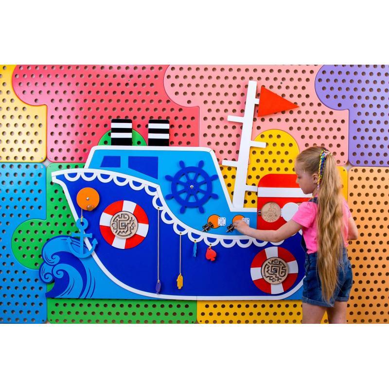 Развивающая панель «Корабль»  фото