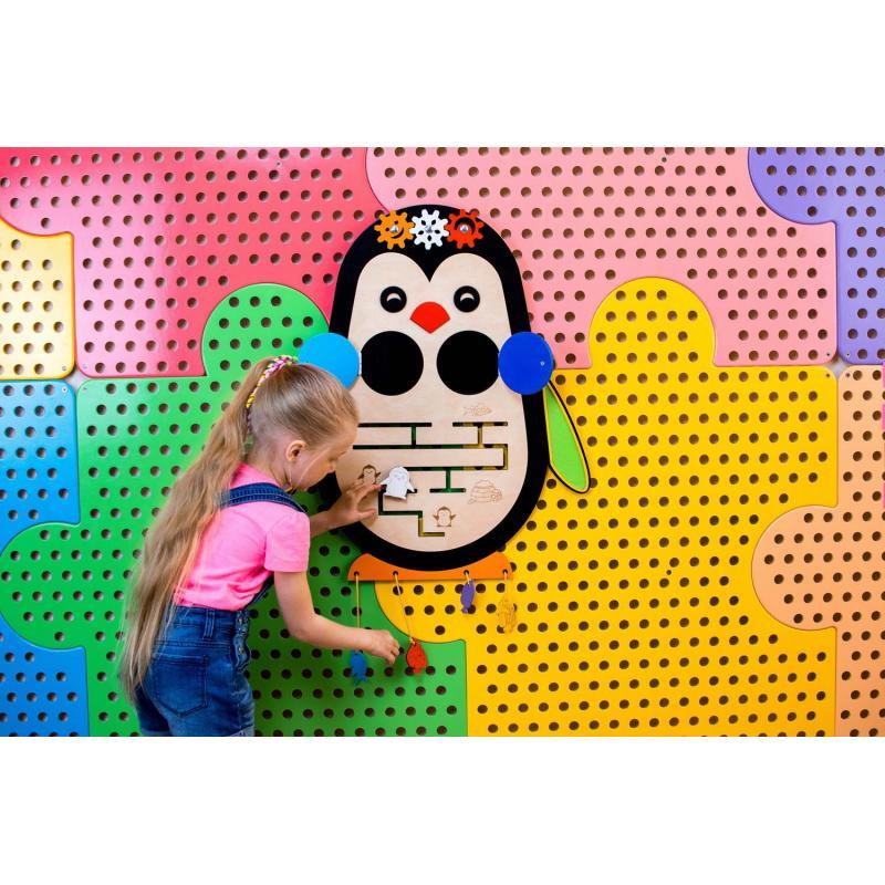 Тактильно-развивающий набор панелей «Птицы»  фото
