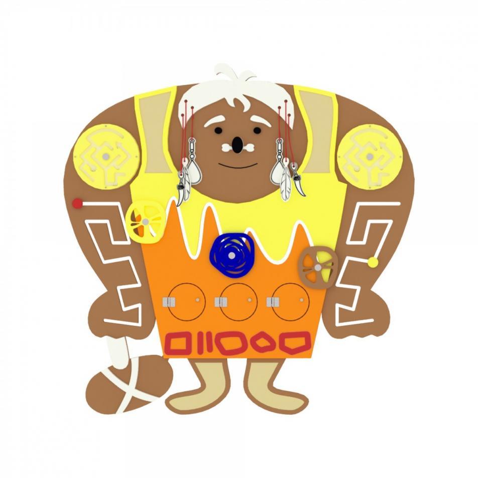 Бизиборд «Пещерный человек»