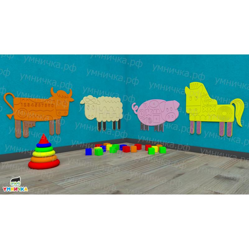 Набор тактильно-развивающих панелей «Ферма» фото