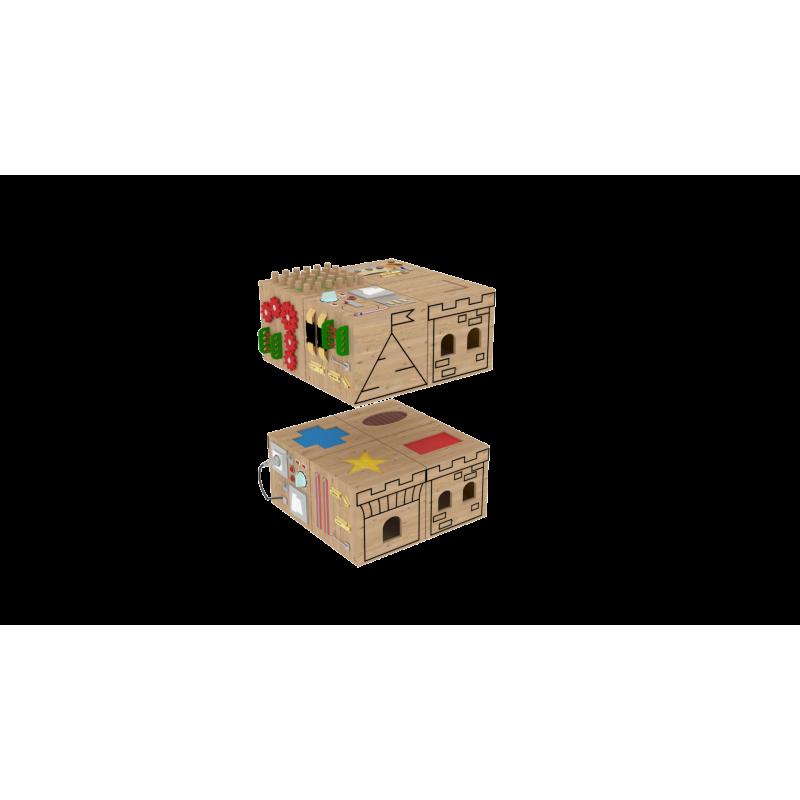 Набор кубиков-бизибордов «Мои друзья» фото