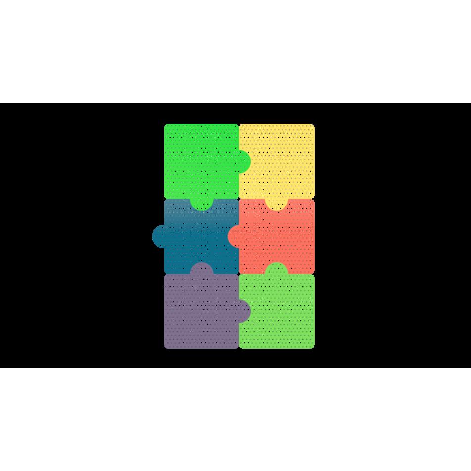 Настенная панель ‹‹Пазлы›› 6 шт