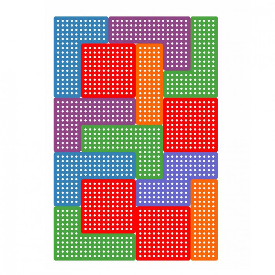 Настенные панели «Тетрис» 14 штук