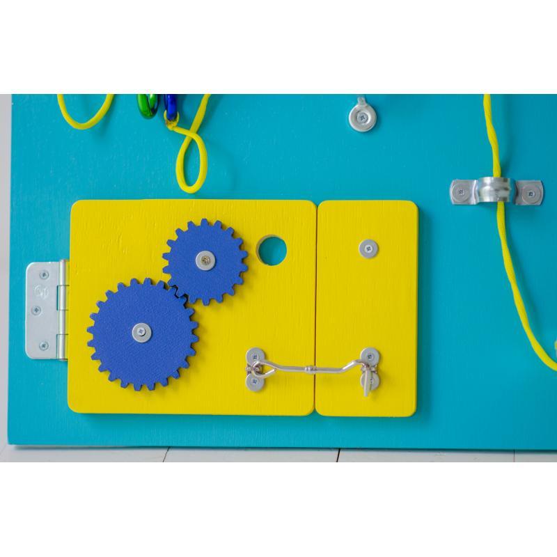 Бизиборд Классик с магнитно-меловой доской Голубика 50х60 фото