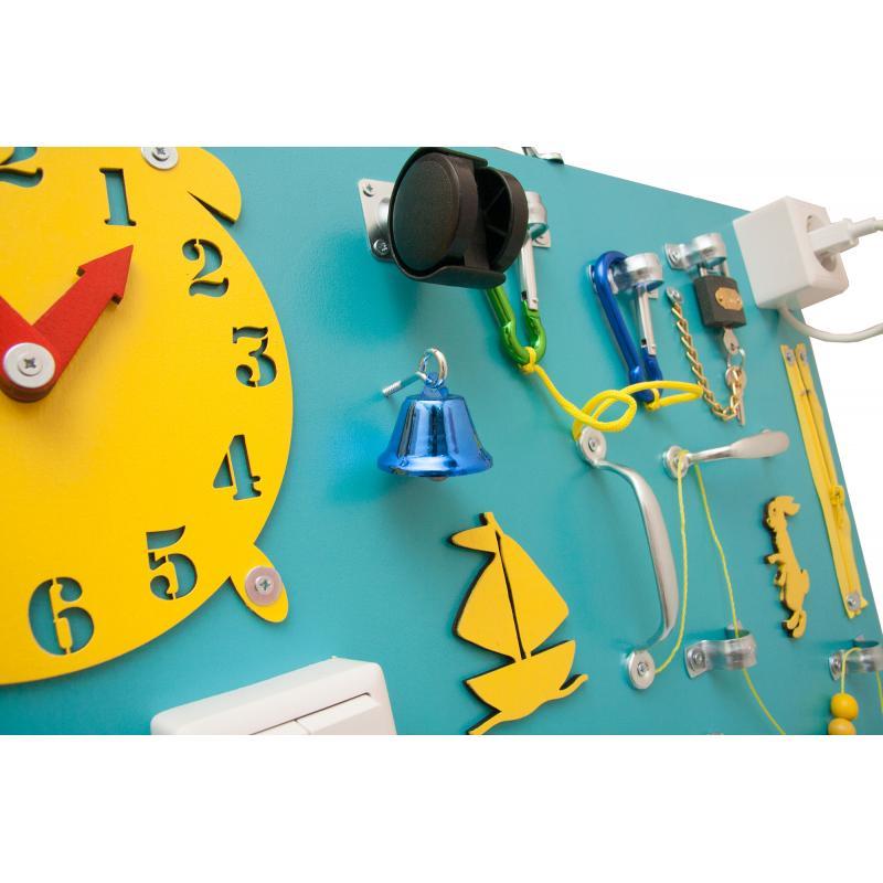 Бизиборд Люкс с магнитно-меловой доской Голубика 50х60 см фото