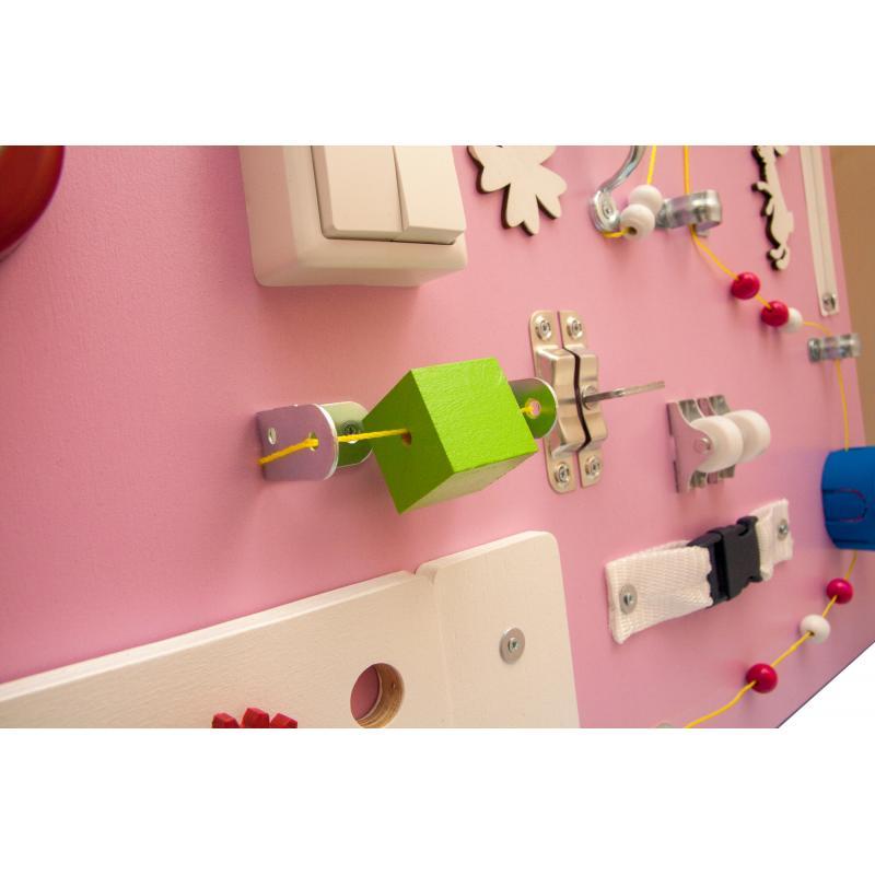 Бизиборд Люкс с магнитно-меловой доской Питайя 50х60 см фото