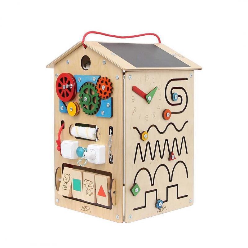 Бизиборд Занятный Дом - Деревянный 40х60 см фото