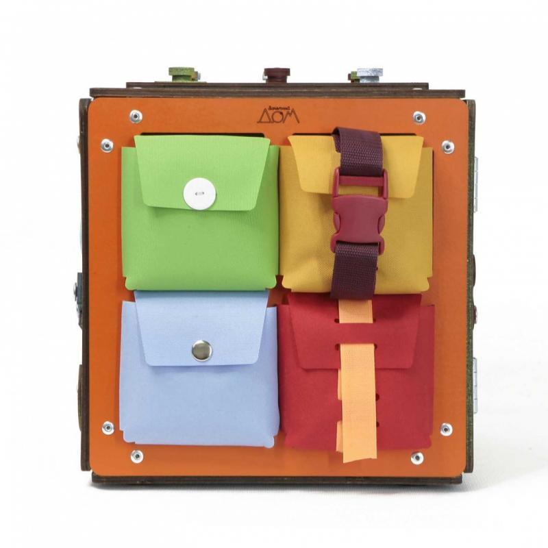 Бизиборд Занятный Куб 28х28 см фото