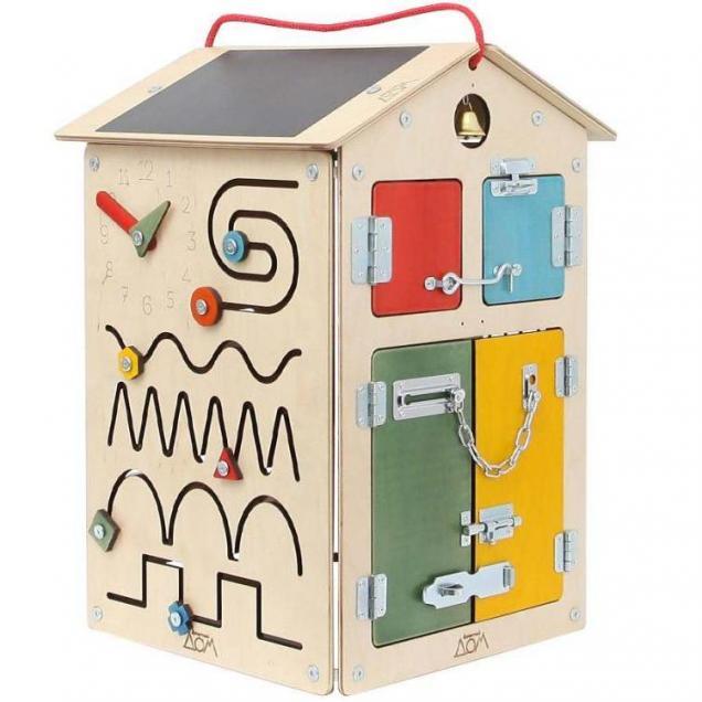 Бизиборд Занятный Дом - Деревянный 40х60 см