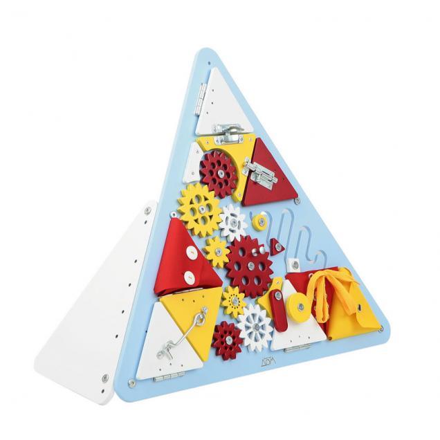 Бизиборд Треугольник Голубой