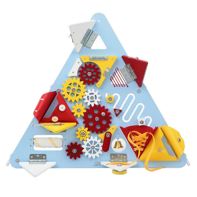 Бизиборд Треугольник Голубой фото