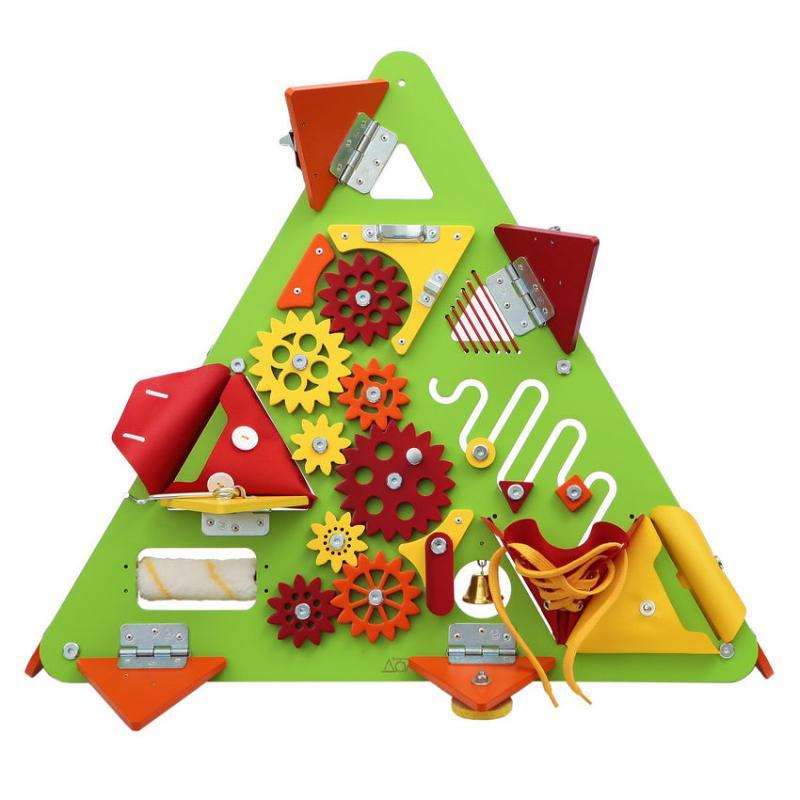Бизиборд Треугольник Зеленый фото