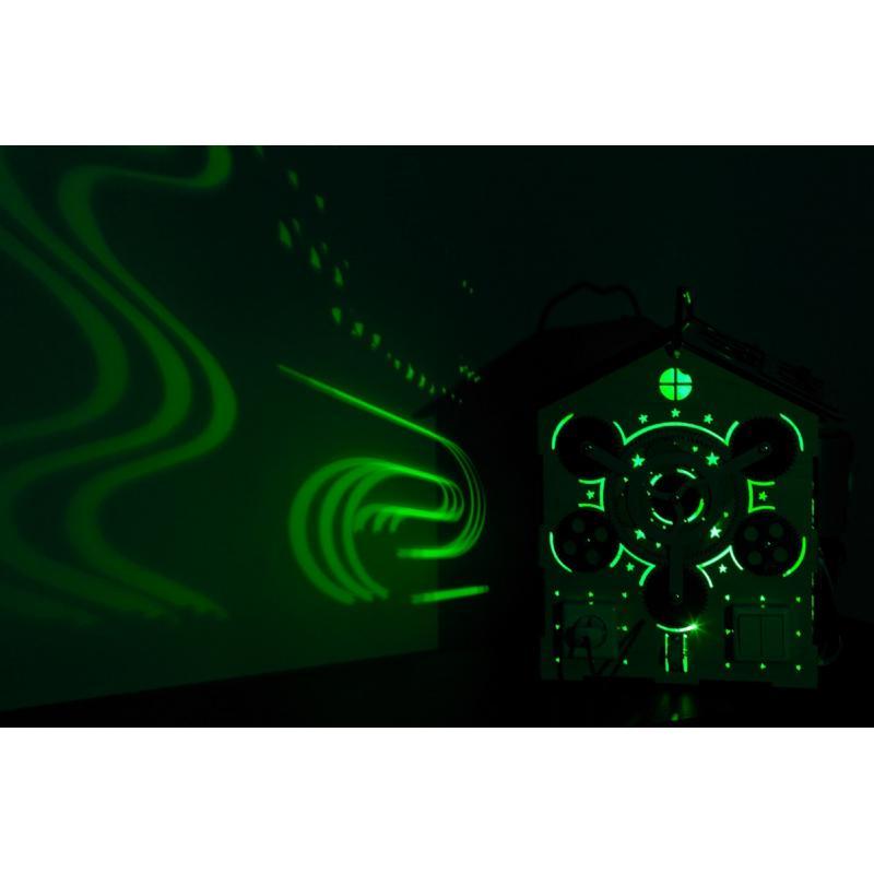 Бизиборд Домик 7 цветов подсветки 35х40 см фото