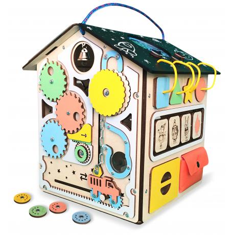 Бизиборд дом с подсветкой «Приключение монетки»