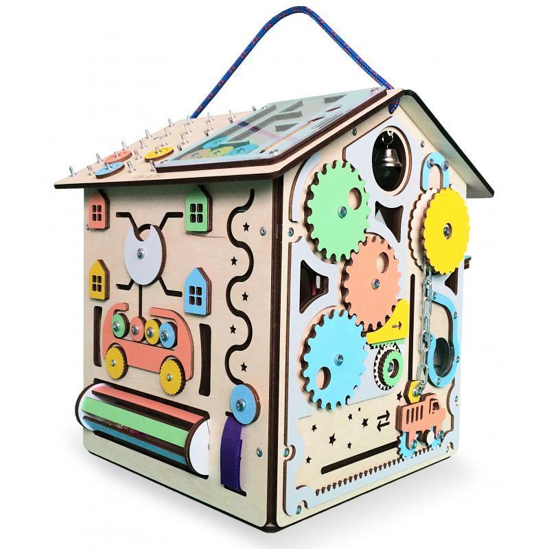 Бизиборд дом с подсветкой «Приключение монетки» фото