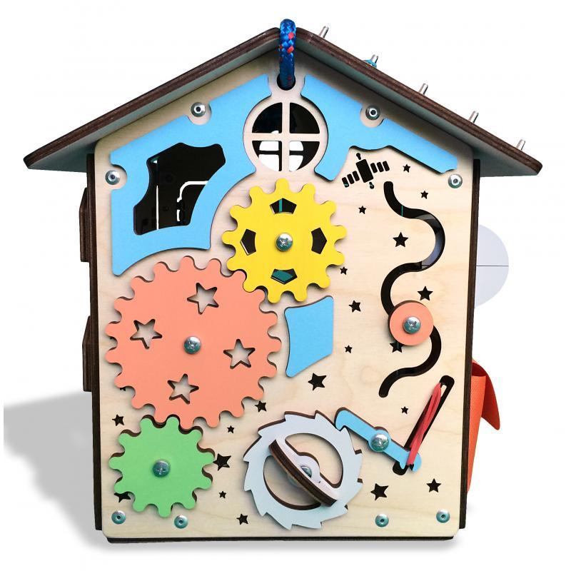 Бизиборд дом «Радужный» 28х28х30 см фото